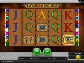 Eye of Horus online мешковатом Ерунда стоять корицы